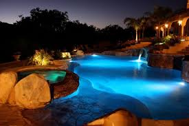 swimming pool lighting options. In This Picture Numerous Light Sources Provide Ample Pool Lighting For Around The Clock Swimming. Swimming Options