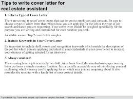 Administrative Assistant Cover Letter Real Estate Assistant Cover
