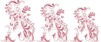 Romantic Embroidery Designs Enlaced Romance Initials