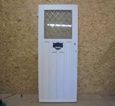 white front door. Contemporary Front View Details  Half Glazed White Front Door With