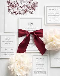 glam monogram letterpress wedding invitations letterpress Letterpress Wedding Invitations Ma dark red wedding invitations with wine colored silk ribbon letterpress wedding invitations atlanta