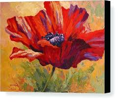 poppy canvas art poppies canvas print featuring the painting red poppy ii by rose
