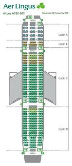 Aer Lingus A330 Seat Chart Commercial Aircraft Airplane
