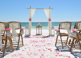 beach wedding chairs. Add 10 Chairs With Sashes And Rose Petals For $150.00 Beach Wedding