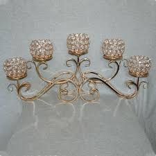 top rated 5 head golden metal crystal candle holder candelabras wedding centerpiece arms chandelier glass