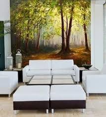wallpaper for office walls. Green Non Woven Paper Summer Forest Wallpaper For Office Walls U