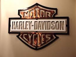 new harley davidson metal wall art design 15 x 20 glmaw regarding harley davidson