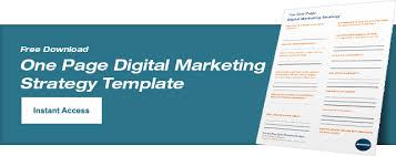 Free Digital Marketing Plan Template Emmix