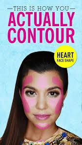 contour heart shaped face