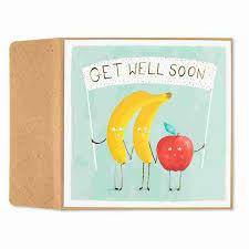 Get Well Card Friendly Fruits Get Well Card