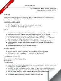 Sample Pta Resume Impressive Sample Physical Therapist Resume Free Professional Resume