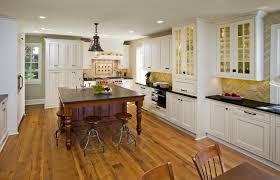 Raised Kitchen Floor Kitchens With Wood Floors Kitchen With Raised Panel Antique White