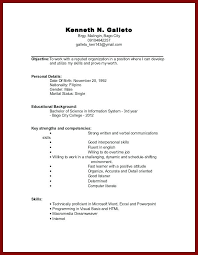 Example Of College Resume Template Interesting College Student Resume Resume Template R College Student With Little