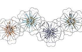 metal flower wall art inspiring design metal flower wall art with d blue bronze blue flower metal flower wall art