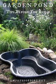 building a backyard pond read this first