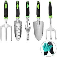 <b>Garden</b> Tool Set 6 Piece <b>Green</b> Quality <b>Aluminum Alloy</b> Outdoor ...