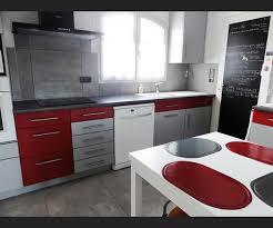 Cuisine Rouge Et Gris Moderne Tk72 Jornalagora