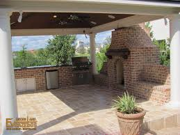 Outdoor Kitchen Fireplace Outdoor Kitchens Fireplaces Ev Decks Gazebos