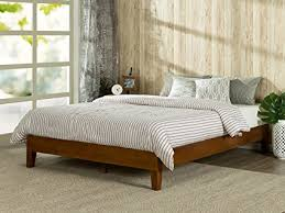 platform bed no box spring. Delighful Box Zinus 12 Inch Deluxe Wood Platform BedNo Boxspring NeededWood Slat  Support Intended Bed No Box Spring E