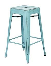 Blue Metal Bar Stools