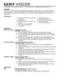 Resume Help New Sales Technical Support Resume Entry Level Information Technology