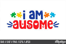 ✓ free for commercial use ✓ high quality images. Autism I Am Ausome Puzzle Piece Svg Dxf Png Cutting Files 220502 Cut Files Design Bundles