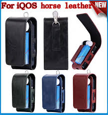 china iqos electronic cigarette protective holder cigar cover iqos wallet case electronic cigarette pu leather carrying case box with card holder china