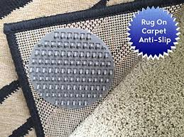 non slip rug pads for rug on carpet anti slip designed for use on medium pile carpet 8 pack intended to limit medium large sized rugs from moving on top