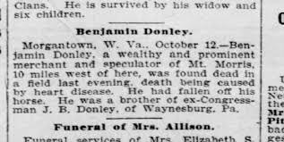 Donley (B.F.) - Benjamin Donley - Death Notice - Newspapers.com