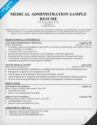 medical administration resume medical administration resume resumecompanion com health resume