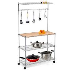 Wire kitchen rack Intermetro Image Unavailable Amazoncom Amazoncom Yaheetech Tier Stainless Steel Metal Wire Kitchen