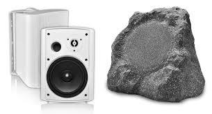 outdoor bluetooth patio speakers. osd audio btr-800 rock speaker and btp-650 patio outdoor bluetooth speakers e