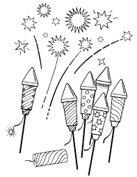Small Picture Free Fireworks Coloring Page