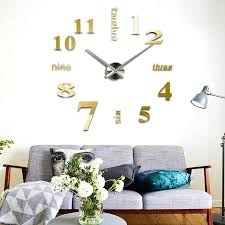 decoration wall clock new modern large mirror surface sticker home decor art design in stickers from