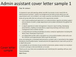 admin assistant cover letter   admin assistant cover letter sample