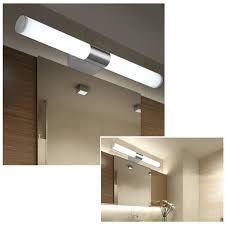 fuloon modern brief stainless steel led wall light make up lighting bathroom under cabinet lights mirror lamp com