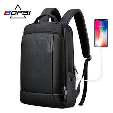 bopai new backpack genuine leather bag men business travel daypacks natural leather backpacks real leather back
