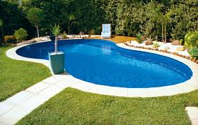 ... Fancy Swimming Pool Designs With Dark Pool Liners : Extraordinary  Swimming Pool Decorating Ideas Using Blue ...