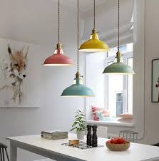 lighting modern multicolored pendant