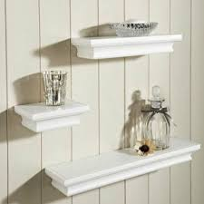 set of 3 floating wall shelves wall