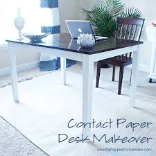 contact paper on furniture. Desk Makeover Contact Paper On Furniture N