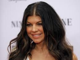 Fergie as a brunette