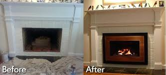 new gas fireplace insert before after photos gas fireplace insert efficiency ratings