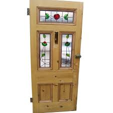 5 panel rose stained glass door
