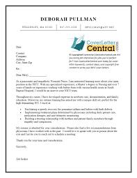 Nursing Cover Letters Impressive Cover Letter Examples Nursing