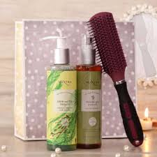 mantra ayurvedic haircare essentials vega brush her in a gift bag