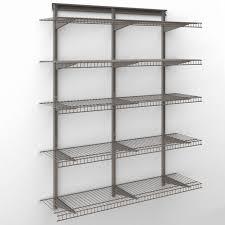 closetmaid shelftrack 4 ft wire shelf kit pertaining to top closetmaid shelftrack for your residence