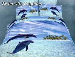 dolphin bedspread swim with dolphins duvet set by dolce mela