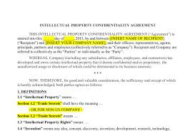 Intellectual Property Nda Template Write A Non Disclosure Agreement Fiverr