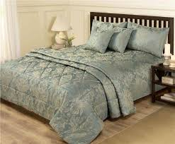 new blue gold bed set king size duvet quilt cover bedspread throw